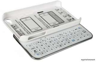 NEW BLUETOOTH SLIDING KEYBOARD & HARD WHITE CASE COVER FOR APPLE