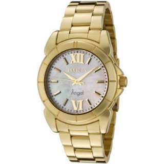Invicta Womens 0460 Angel Collection 18k Gold Plated Stainless Steel
