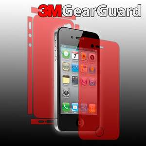 3M Gear Guard Skin Invisible Full Body Shield Case for Apple iPhone 4S