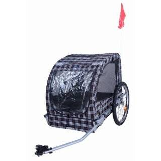 AOSOM Pet Dog Cat Bicycle Bike Trailer   Red/Black  Sports