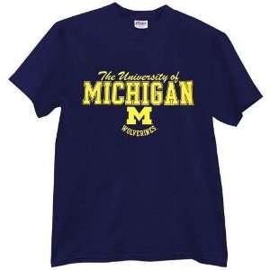 Michigan Wolverines Navy Blast T shirt