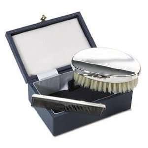 JB Silverware Sterling Silver Gents Brush & Comb Set
