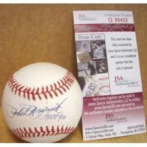 Signed Phil Rizzuto Ball   Hof 94 Official A l W jsa