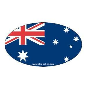 Australia Country Flag Oval bumper sticker decal AUSTRALIAN FLAG
