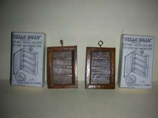Hello Dolly Miniature Wood Wall Display Cases (#9)