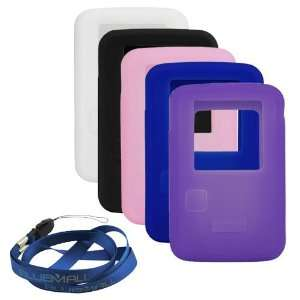 Silicone Skin Soft Cover Case ( Black + Purple + Blue + White + Pink