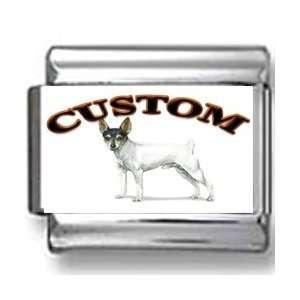 Toy Fox Terrier Dog Custom Photo Italian Charm Jewelry
