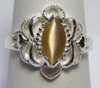 Cats Eye Ring 925 Jewelry Beautiful colors