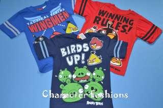 ANGRY BIRDS Short Sleeve Shirt Tee Top Size 6 7 8 10 12 14 16 BOYS