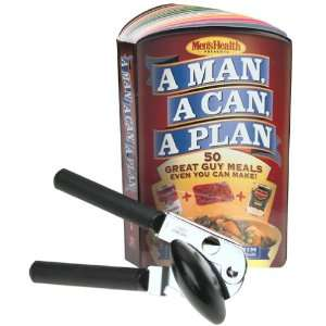 OXO Good Grips Can Opener and A Man, A Can, A Plan Cookbook Set