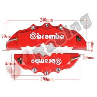 ABS 4pcs Front+Rear Disc Brake Caliper Cover Brembo Universal