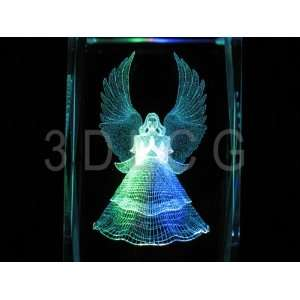 Angel Praying 3D Laser Etched Crystal