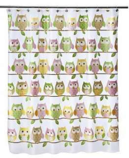 Owls On The Line Owl Bird PEVA Bathroom Shower Curtain