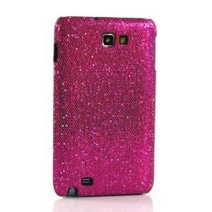 Purple sparkle Hard Case For Samsung Galaxy Note / GT N7000