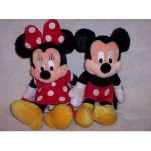Walt Disney World Mickey & Minnie Mouse 10 Plush