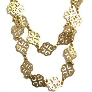 14K Gold Plated Multi layer Necklace With Celtic Design Links Jewelry