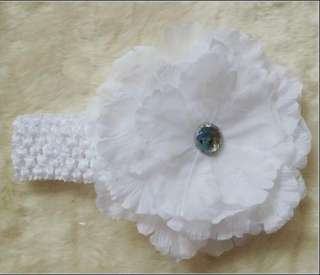 CHRISTENING Photography Props Large Flower headband Hair Clip