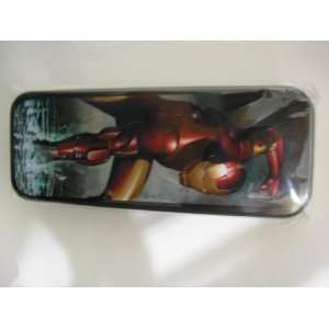 Marvel Iron Man Tin Pencil Box Case