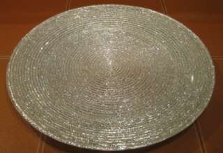 SILVER GLITTER CHARGER PLATE