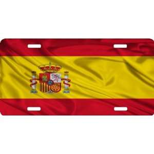 Rikki KnightTM Spain Flag Cool Novelty License Plate   Unisex   Ideal
