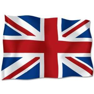 UNITED KINGDOM Flag car bumper sticker decal 6 x 4