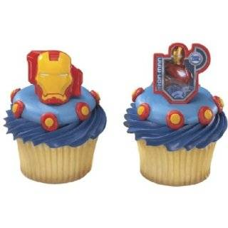 Iron Man Cake or Cupcake Toppers (12 Pack)