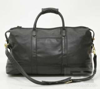 Coach Vintage Black Leather Large Travel Duffel Bag