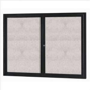 Bulletin Board Black Powder Coat   36W X 36H