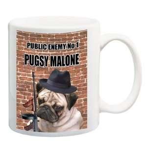Pug Pugsy Malone Funny Coffee Tea Mug 15 oz