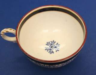 Royal Worcester Lily Blue & White Porcelain Large Coffee Cup & Saucer