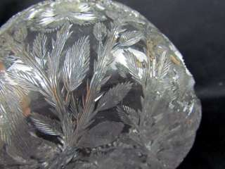 Antique Brilliant Intaglio Cut Glass Bowl by Tuthill, Great Engraved