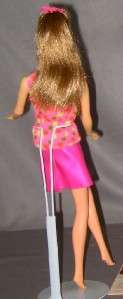 Vintage Barbie Mod GoGoCoCo Brown Hair TNT Twist n Turn Original Top