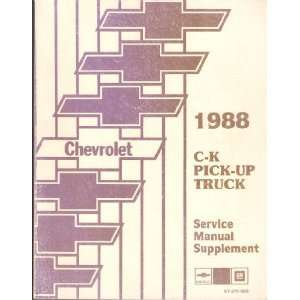 Pick Up Truck Service Manual Supplement Chevrolet Trucks Books