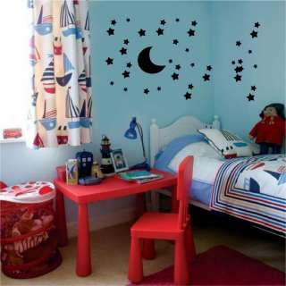 Moon Stars Vinyl Wall Stickers Decals Childs Room Decor