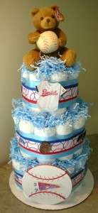 BASEBALL SOCCER BASKETBALL Diaper Cake Baby Shower Gift