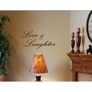LOVE & LAUGHTER Vinyl wall lettering stickers quotes and sayings home