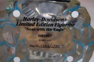 HARLEY DAVIDSON Soar With The Eagle Statue Collector Figurine