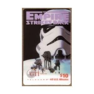Collectible Phone Card $10. Empire Strikes Back, Return of The Jedi