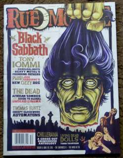 RUE MORGUE # 118 December 2011 BLACK SABBATH Tony Iommi OZZY Living