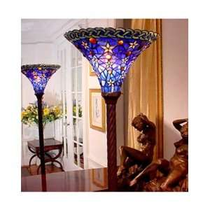 Tiffany Style Stained Glass Torchiere Floor Lamp FT1485