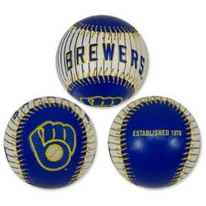 MILWAUKEE BREWERS OFFICIAL EMBROIDERED LOGO BASEBALL