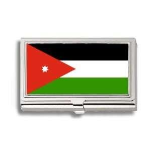 Jordan Al urdunn Flag Business Card Holder Metal Case
