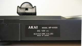 genuine akai 12v dc belt drive turntable made in japan the name