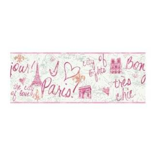 York Wallcoverings PW3909 Girl Power 2 Paris Wallpaper