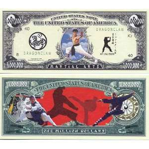 Set of 10 Bills Martial Arts Million Dollar Bill Toys