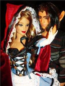 Little Red Riding Hood & Wolf ~barbie doll & ken doll ooak fairy tale