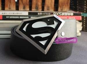 Superman logo fashion Metal Buckle leather Belt BSU21B