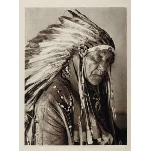 1927 Native American Big Chief White Horse Eagle Osage