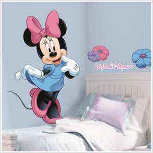 DISNEY MINNIE MOUSE BiG Wall Mural Stickers RoOm Decor NEW Vinyl