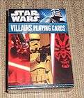 2011 STAR WARS VILLAINS PLAYING CARDS SEALED DECK